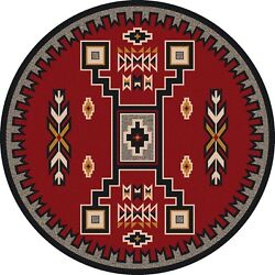 Old Crow Southwestern Decor Red Rustic Lodge Nylon Country Cabin Rug 7'7