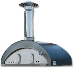 Necessories Pizzaiolo 40 in. Stainless Steel Wood-Fired Outdoor Pizza Oven