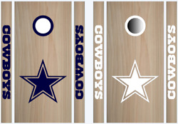Dallas Cowboys Cornhole Bean Bag Toss Vinyl Decal Set -8pcs- Multiple Colors