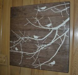 Salema Birds Fetco Wall Hanging Art 24quot; by 24quot; $19.99