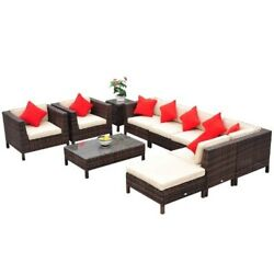 Outdoor Furniture Set Rattan Wicker Gard Patio Sofa Chair Couch Lounge Sectional