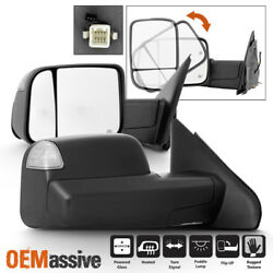 Fit 02-08 Dodge Ram 1500 03-09 2500 3500 Power Heated [2009 Style] Tow Mirrors $145.99