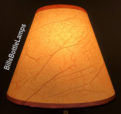 Rustic Cottage CRACKLE Table Light LAMP SHADE Clip On Bulb Style 9quot; inch Cone $25.49