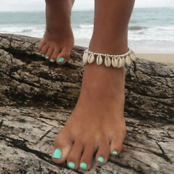 Natural Barefoot Foot Jewelry Beads Shell Anklet Beach Sandals Ankle Chain