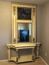 Antique Table With Mirror $1500.00