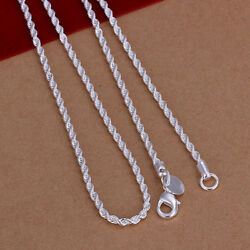 Bulk Solid Sterling-Silver Classic Necklace Chain For Pendant Jewelry Unisex