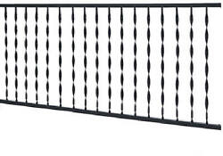 Windsor Plus Railing Black Wrought Iron 4-In. Spindle Spacing 4-Ft.