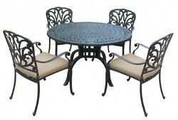 Vintage Dining Table Set Chairs Patio Lawn Yard Backyard Pool Furniture Outdoor