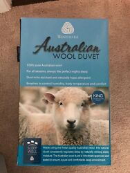 Natural Home Australian Wool Comforter - KING size & USED