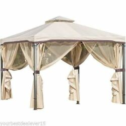 PATIO GAZEBO CANOPY Outdoor Furniture Tent Grill Backyard Portable GARDEN 10X10