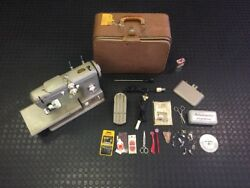 PFAFF 332 Sewing Machine with Many Accessories and Sewing Supplies Nice