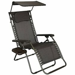 Oversized Recliner Zero Gravity Chair With Sunshade And Drink Tray New