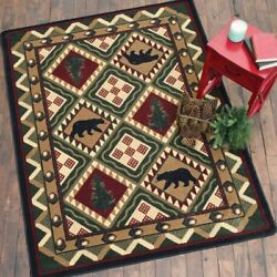 Quilted Bears Forest Area Rug Various Sizes and Shapes with FREE Shipping