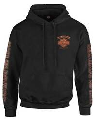 Harley Davidson Men#x27;s Eagle Piston Long Sleeve Pullover Hoodie Black 30299949 $49.95