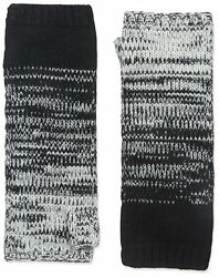 NEW NIP Sofia Cashmere Black Marled Ombre Knit Fingerless Gloves 100% Cashmere