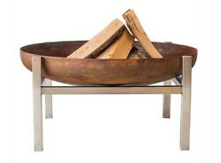 Curonian Parnidis Fire Pit Large Combination of Rusting and Stainless Steel
