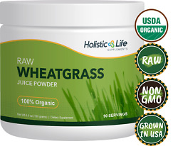 100% Organic Ancient Sea Bed Grown Wheat Grass Juice Powder 90 Servings