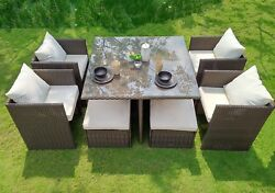 WEATHERPROOF Outdoor Patio 9-piece Furniture Dining Set All-Weather Wicker
