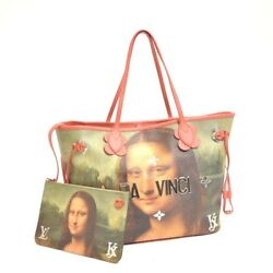Authentic LOUIS VUITTON Coated canvas Collection Mona Lisa Neverful Bag M43373