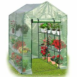 Superbuy Portable Greenhouse 8 Shelves Mini Walk In Outdoor Green House 2 Tie...