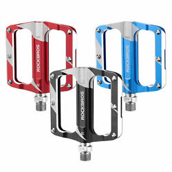 ROCKBROS Bicycle Pedals Alu 9 16quot; Pedals Non Slip Sealed Bearing MTB 3 Colors $28.99
