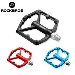 ROCKBROS Bicycle Pedals Alu 9 16quot; Non Slip Sealed Bearing Cycling Flat Pedals US $23.99