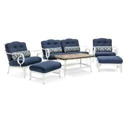 Vintage 6 Pcs Patio Set Bistro Seating Sofa Couch Chairs Table Outdoor Retro New