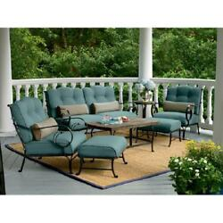 Vintage 6 Pcs Patio Set Bistro Seating Chairs Sofa Couch Table Outdoor Retro New