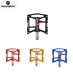 ROCKBROS MTB Bike Aluminum Alloy Pedal Cycling Sealed 4 Bearing Pedals USA Stock $32.99