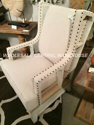 DESIGNER FARMHOUSE HIGH BACK WING ACCENT CHAIR WESTERN HOME DECOR XL