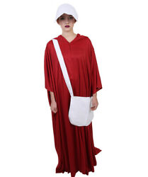 The Handmaid's Tale Offred Handmaid Cosplay Costume Robe Cape Bag Bonnet HC-246
