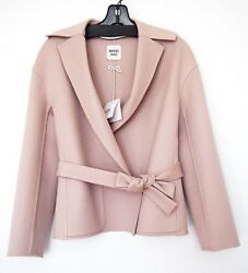 New Authentic HERMES Taupe Beige Double Face Cashmere Coat 36 S Womens