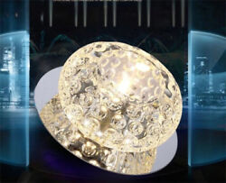 Round 3W LED Crystal Ceiling Light Fixture Pendant Room Lamp Lighting Chandelier $17.99