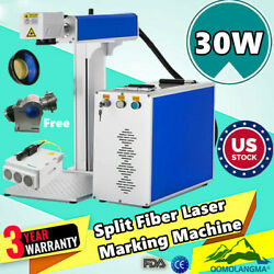 US 30W Split Fiber Laser Marking Machine Raycus Laser Marker with Rotation Axis $4187.51