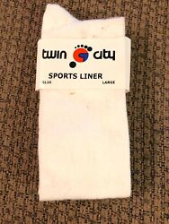 VINTAGE TWIN CITY SPORTS LINER LARGE SOCKS $9.00
