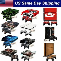 Vinyl Skin Decal Set for Playstation 4 PS4 Console + 2 Controller Cover Sticker
