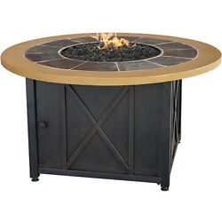 Propane Gas Fire Pit Round Coffee Table Kit Steel Firebowl for Patio Furniture