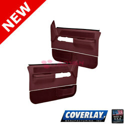 Maroon Replacement Door Panels Pair Full Power 18 36F MR For C1500 Coverlay $366.67
