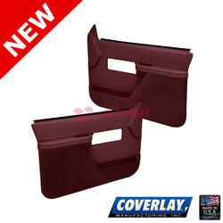Maroon Replacement Door Panels Pair 18 27F MR For C1500 Pickup Coverlay $495.38