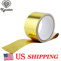 Gold Heat Shield Wrap 5CM Tape Car Intake Intercooler Pipe Reflective Insulation