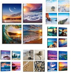 Nature Beach Painting Framed Print Canvas Wall Picture Sunset Sea Ocean 11 Kinds $29.98