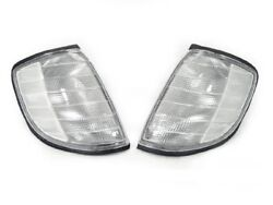 DEPO Euro Clear Corner Lights Lamps Set Fit 1992 1999 Mercedes Benz W140 S Class $45.96