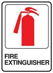 Hy Ko D 16 FIRE EXTINGUISHER SELF ADHESIVE BUSINESS COMMERCIAL SIGN