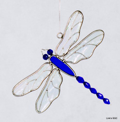 Stained Glass Blue Dragonfly Sun Catcher $33.00