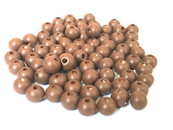 500 pcs Lt. Brown Wood Beads 8mm Bead Jewelry Making Wooden Tool Craft 3x round