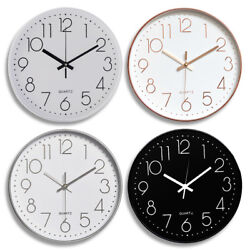Modern Wall Clock Silent Non ticking Battery Operated 12quot; Round Clock Home Decor $13.80