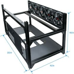 Rosewill 8 GPU Mining Case Open Air Stackable Frame Dual PSU Support $69.99