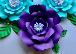 Paper Flower Template #14 Kit DIY Make Unlimited Flowers Make All Sizes $8.99