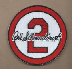 NEW 3 1 2 INCH RED SCHOENDIENST CARDINALS MEMORIAL IRON ON PATCH FREE SHIPPING $9.99