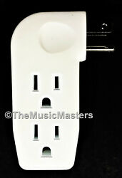 Triple 3 Outlet Grounded AC Wall Plug Power Tap Splitter 3 Way Electric Adapter $6.99